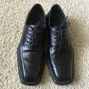 Florsheim men leather derby size 8.5 black
